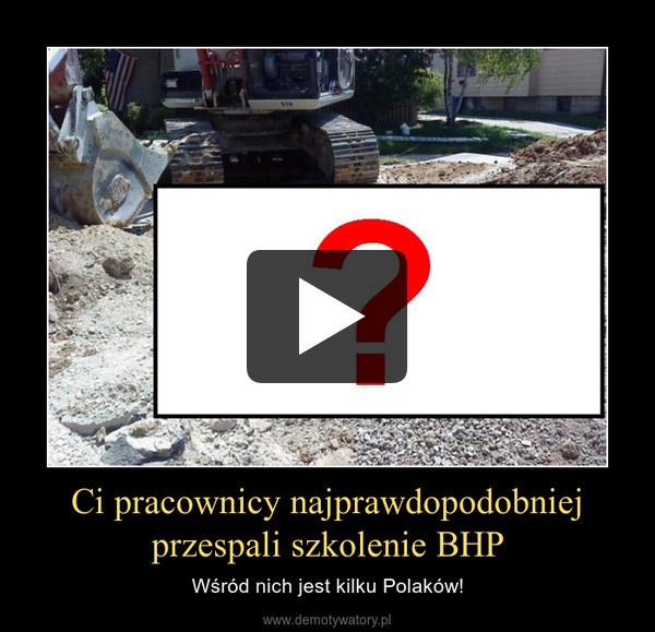 Ci pracownicy najprawdopodobniej przespali szkolenie BHP – Wśród nich jest kilku Polaków!