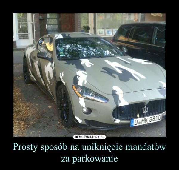 Prosty sposób na uniknięcie mandatów za parkowanie –