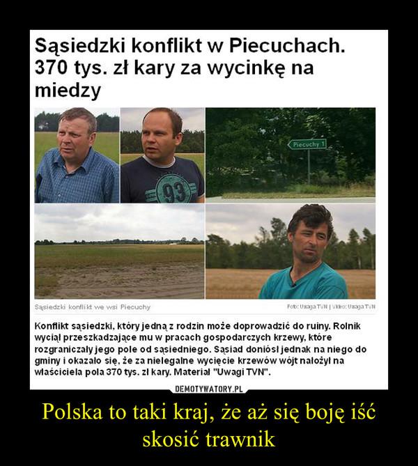 Polska to taki kraj, że aż się boję iść skosić trawnik –