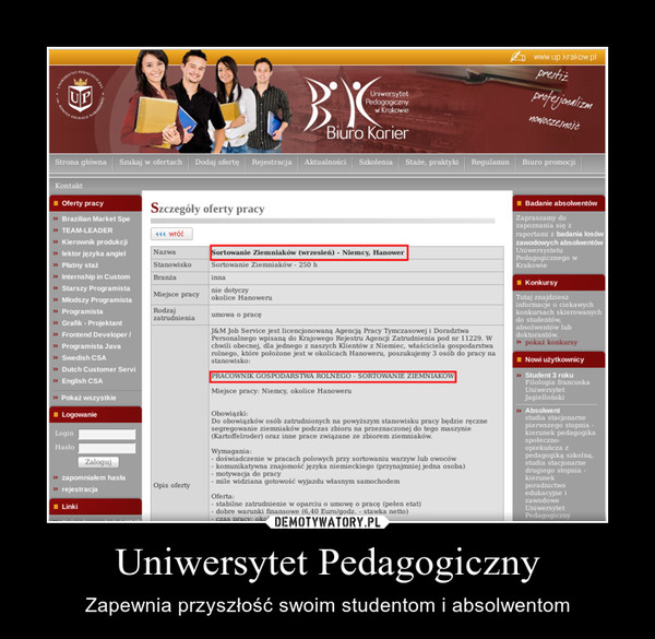 Uniwersytet Pedagogiczny – Zapewnia przyszłość swoim studentom i absolwentom