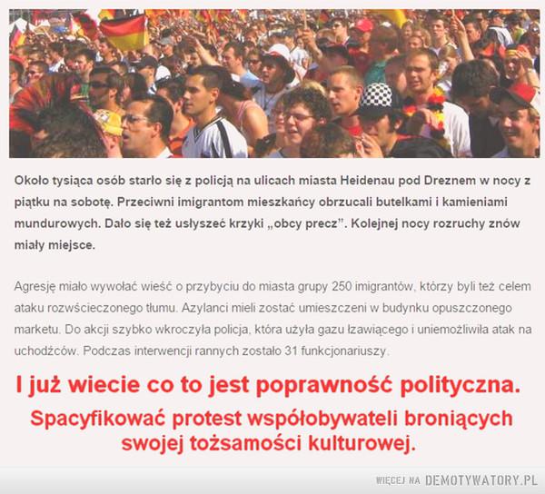 Merkelowa poprawność polityczna... –