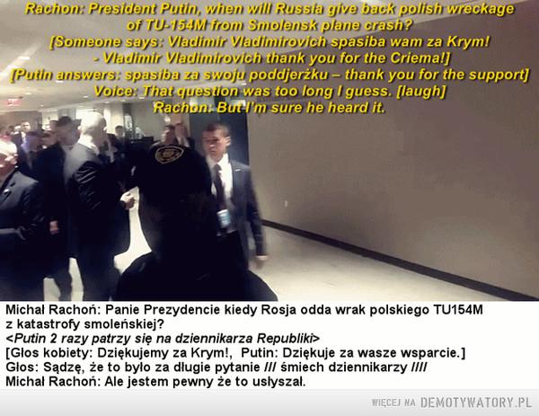 ONZ, pytanie do Putina o Smoleńsk –