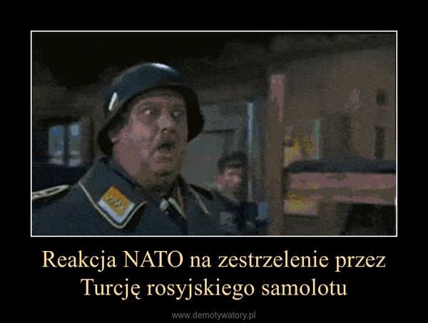 Reakcja NATO na zestrzelenie przez Turcję rosyjskiego samolotu –