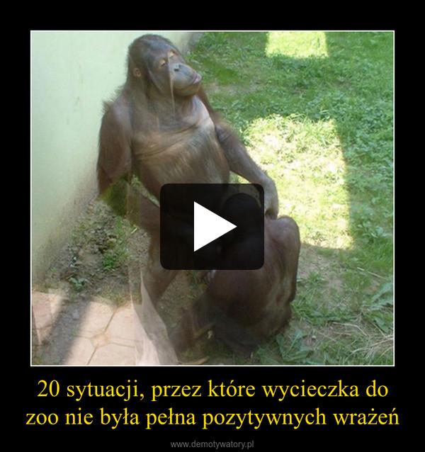 20 sytuacji, przez które wycieczka do zoo nie była pełna pozytywnych wrażeń