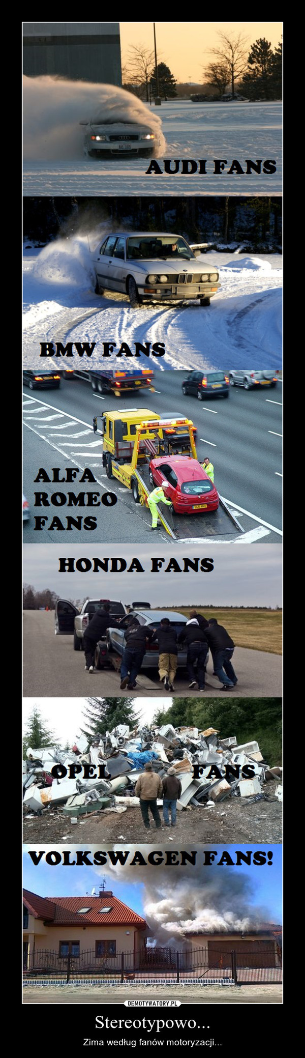 Stereotypowo... – Zima według fanów motoryzacji...