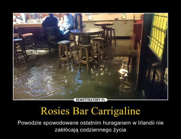 Rosies Bar Carrigaline – Powodzie spowodowane ostatnim huraganem w Irlandii nie zakłócają codziennego życia