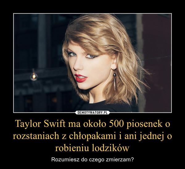 Taylor Swift ma około 500 piosenek o rozstaniach z chłopakami i ani jednej o robieniu lodzików – Rozumiesz do czego zmierzam?