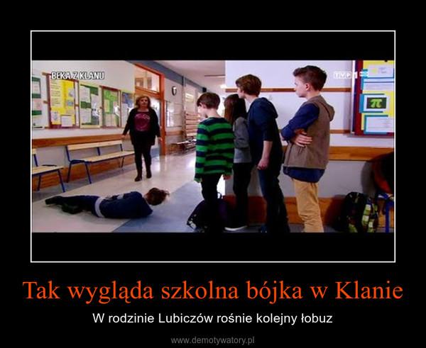 Tak wygląda szkolna bójka w Klanie – W rodzinie Lubiczów rośnie kolejny łobuz