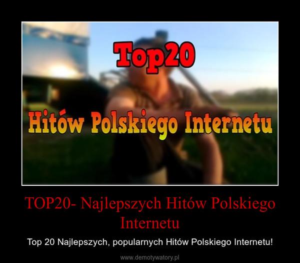 TOP20- Najlepszych Hitów Polskiego Internetu – Top 20 Najlepszych, popularnych Hitów Polskiego Internetu!