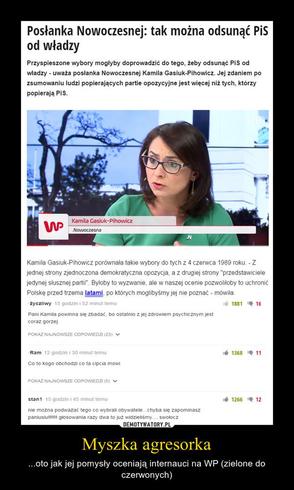Myszka agresorka – ...oto jak jej pomysły oceniają internauci na WP (zielone do czerwonych)