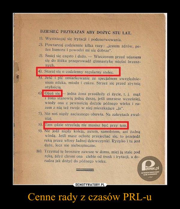 Cenne rady z czasów PRL-u –