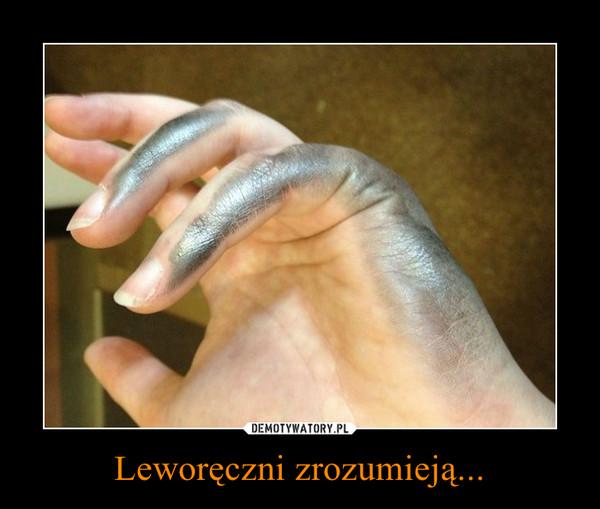 Leworęczni zrozumieją... –