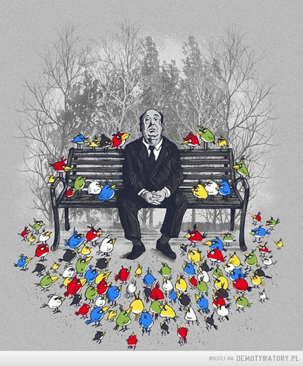 Alfred Hitchcock angry birds art –