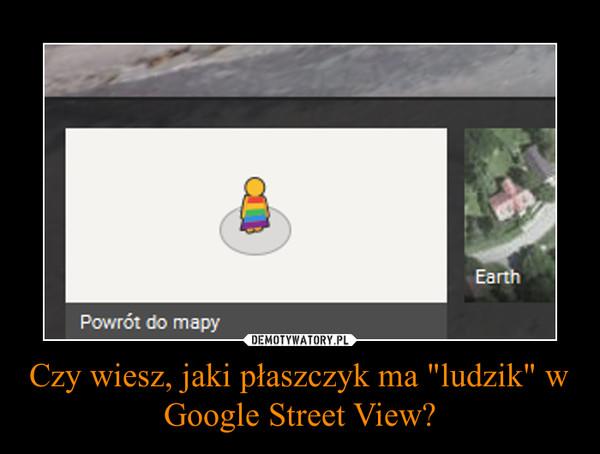 """Czy wiesz, jaki płaszczyk ma """"ludzik"""" w Google Street View? –"""