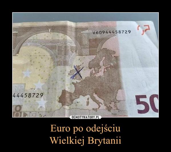 Euro po odejściuWielkiej Brytanii –