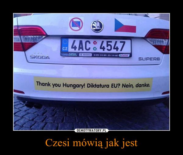 Czesi mówią jak jest –