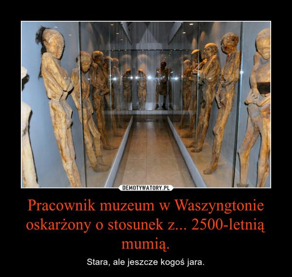 Pracownik muzeum w Waszyngtonie oskarżony o stosunek z... 2500-letnią mumią. – Stara, ale jeszcze kogoś jara.