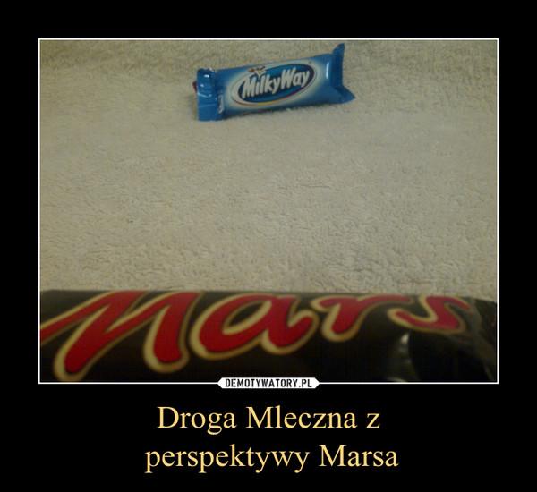 Droga Mleczna z perspektywy Marsa –