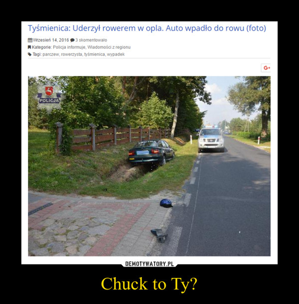 Chuck to Ty? –