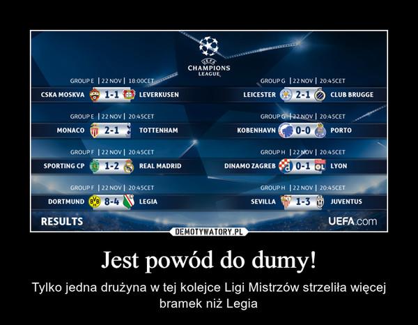 Jest powód do dumy! – Tylko jedna drużyna w tej kolejce Ligi Mistrzów strzeliła więcej bramek niż Legia