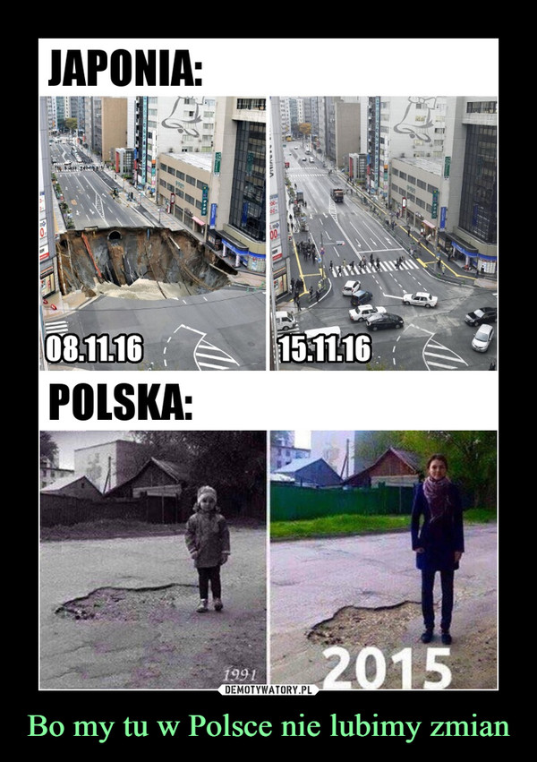 Bo my tu w Polsce nie lubimy zmian –