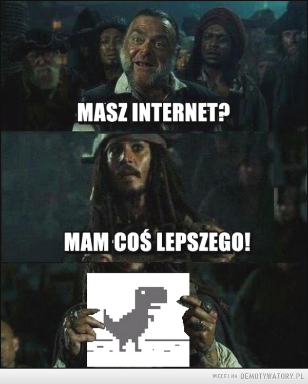 Gdy internetu było brak –