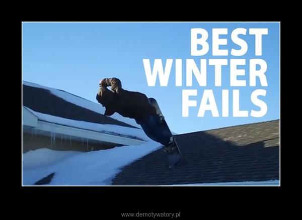 Zimowa kompilacja wypadków –