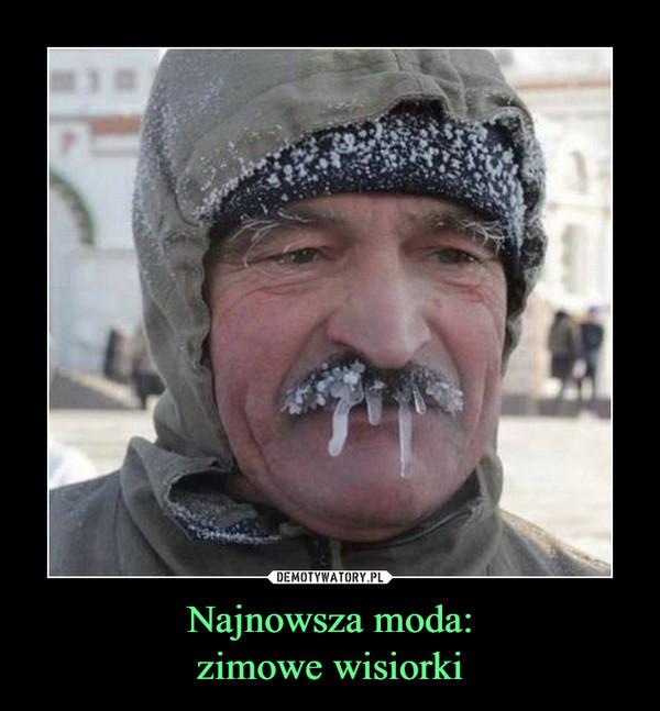 Najnowsza moda:zimowe wisiorki –