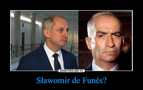 Sławomir de Funès? –