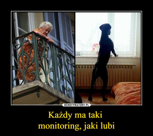 Każdy ma taki monitoring, jaki lubi –