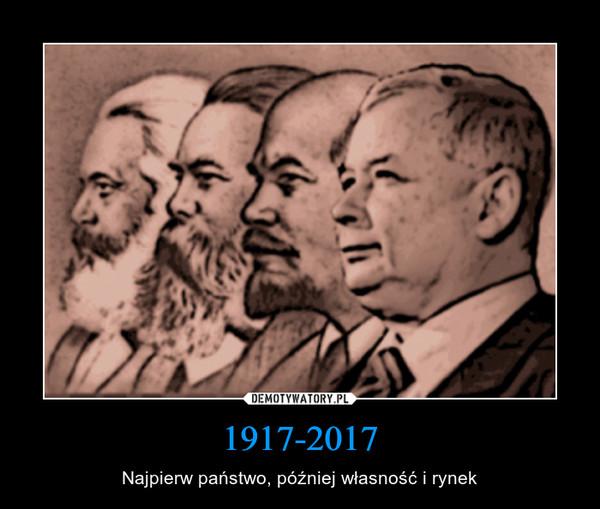 1917-2017 – Najpierw państwo, później własność i rynek
