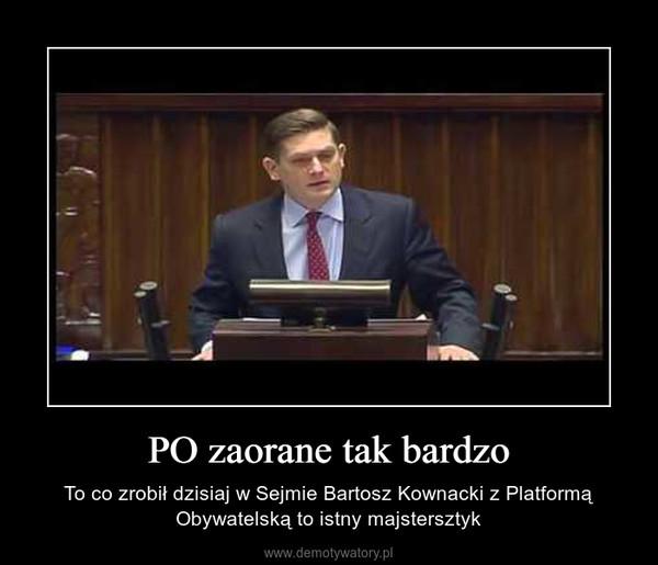 PO zaorane tak bardzo – To co zrobił dzisiaj w Sejmie Bartosz Kownacki z Platformą Obywatelską to istny majstersztyk
