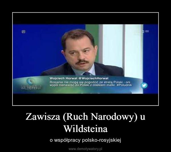 Zawisza (Ruch Narodowy) u Wildsteina – o współpracy polsko-rosyjskiej