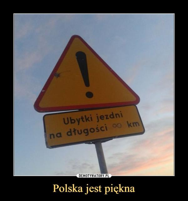Polska jest piękna –  Ubytki jezdni na długości ∞ km