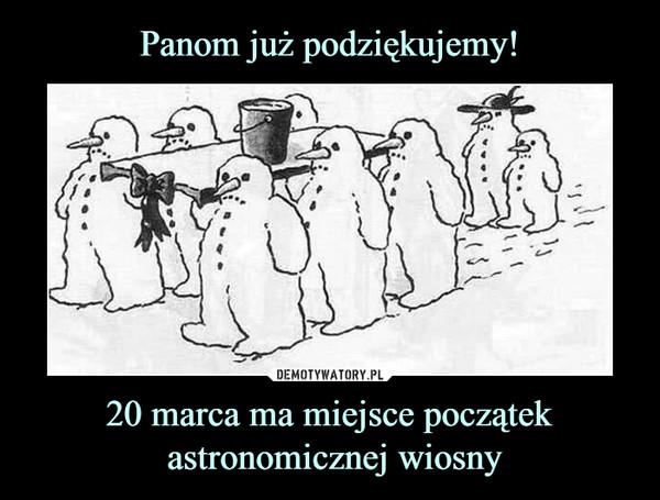 20 marca ma miejsce początek astronomicznej wiosny –