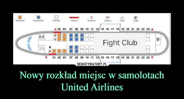 Nowy rozkład miejsc w samolotach United Airlines –