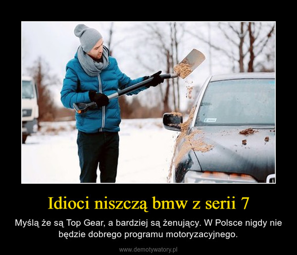 Idioci niszczą bmw z serii 7 – Myślą że są Top Gear, a bardziej są żenujący. W Polsce nigdy nie będzie dobrego programu motoryzacyjnego.