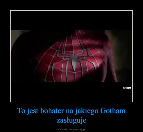 To jest bohater na jakiego Gotham zasługuje –