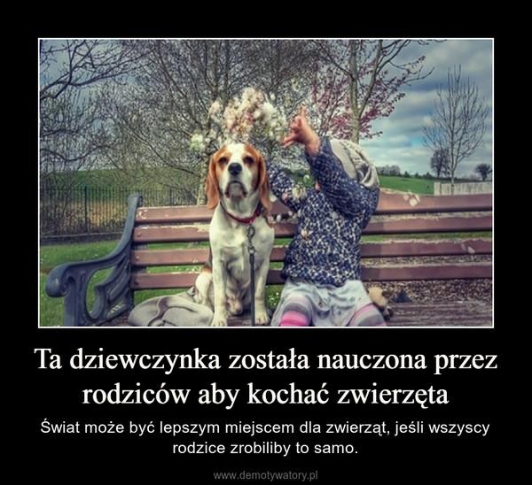 Ta dziewczynka została nauczona przez rodziców aby kochać zwierzęta – Świat może być lepszym miejscem dla zwierząt, jeśli wszyscy rodzice zrobiliby to samo.