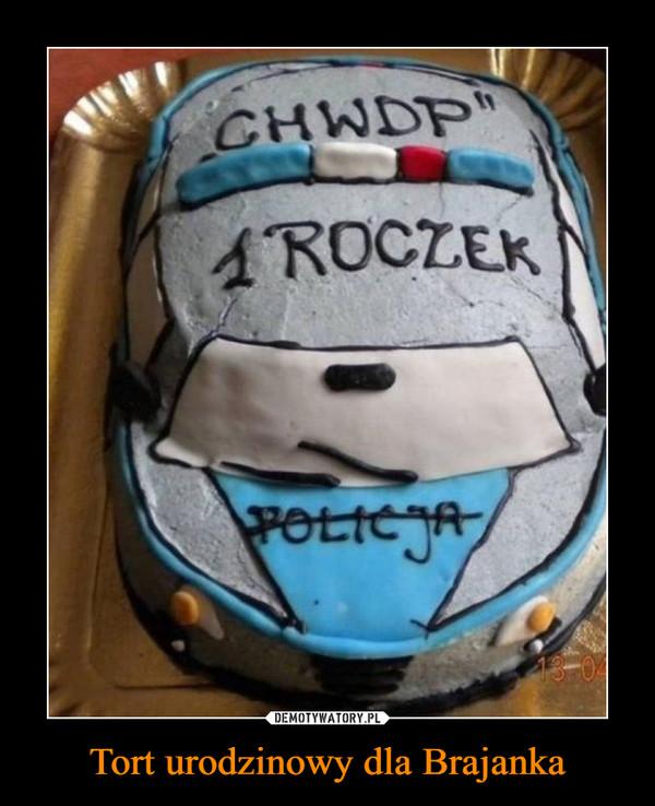 Tort urodzinowy dla Brajanka –  chwdp1 roczekpolicja