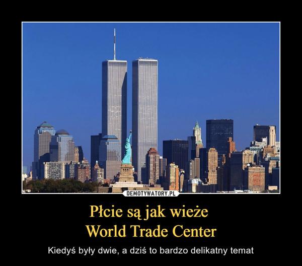 Płcie są jak wieże World Trade Center – Kiedyś były dwie, a dziś to bardzo delikatny temat