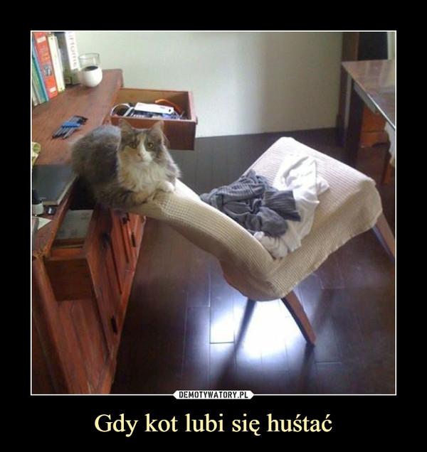 Gdy kot lubi się huśtać –