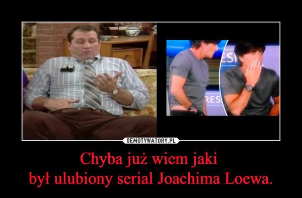 Chyba już wiem jaki był ulubiony serial Joachima Loewa. –
