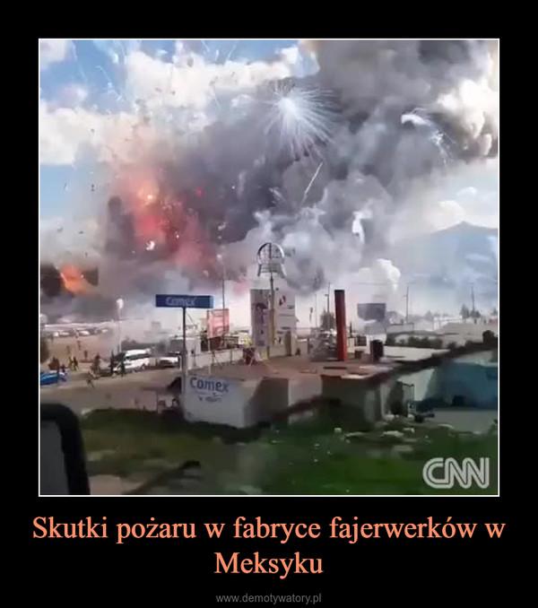 Skutki pożaru w fabryce fajerwerków w Meksyku –