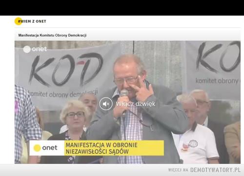 Wiadomości z onet.de szechter w obronie sądów. szczyt hipokryzji