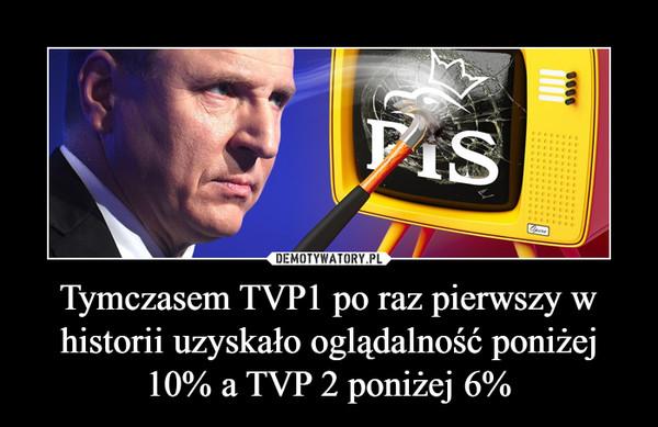 Tymczasem TVP1 po raz pierwszy w historii uzyskało oglądalność poniżej 10% a TVP 2 poniżej 6% –