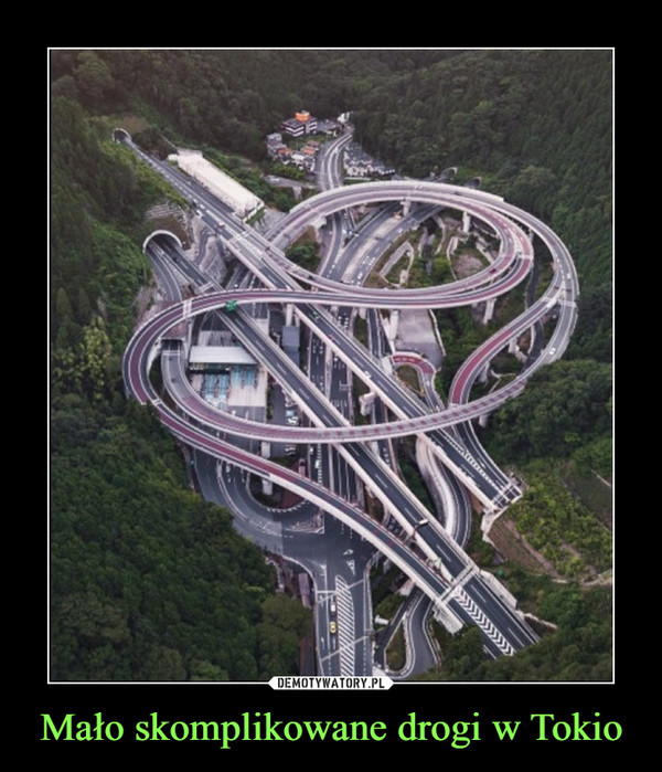 Mało skomplikowane drogi w Tokio –