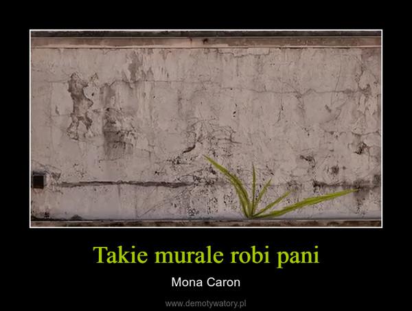 Takie murale robi pani – Mona Caron