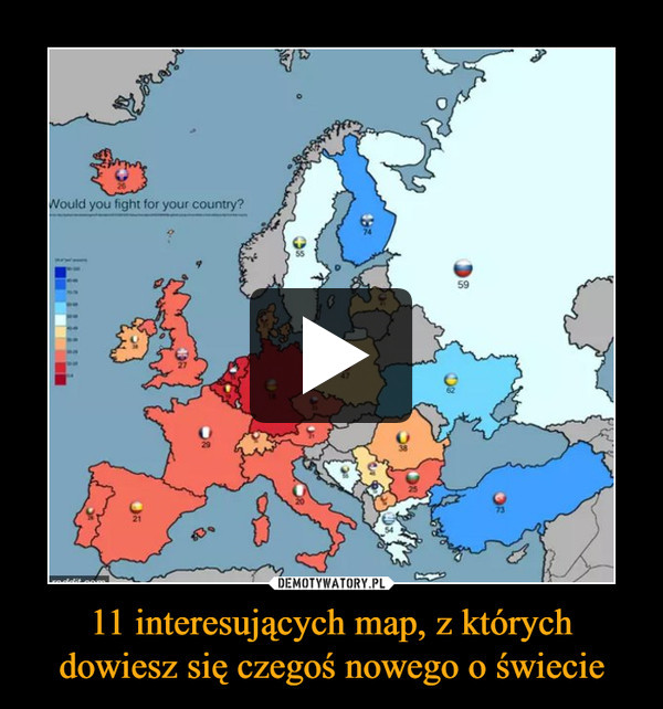 11 interesujących map, z których dowiesz się czegoś nowego o świecie –