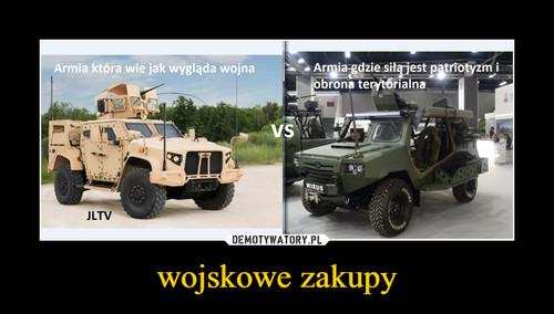wojskowe zakupy